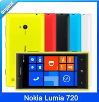 "Unlocked Nokia Lumia 720 Windows Phone 8 Dual Core 1.0GHz 8GB ROM 4.3""IPS Screen 6.7MP 3G GPS WIFI Smartphone Refurbished Gifts"