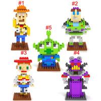 LOZ Toy Story Woody Buzz Lightyear Alien Jessie Zurg figure building Blocks Diamond bricks Toy Child gift 10pcs free shipping