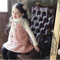 5pcs/lot Korean Boutique Girls Dress spring new temperament lace Girls Princess Dress