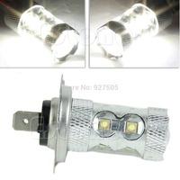 B39 Newest 2015 H7 50W 10-CREE White LED Car Daytime Running Light Fog 2000LM Long life  Free Shipping