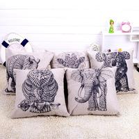 45x45cm 17.7'' Animal Decorative Cushion Cover Printed Embroidery Linen Cotton Throw Pillowcase capa de almofada Pillow Covers