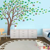 Blowing Tree Wall Decal, bedroom Wall decals wall sticker Vinyl Art , wall design  8337