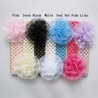 Baby Hair Accessories Lace Flower Elasric Headband Children Girls Headwear Infant Photography Props,FS156