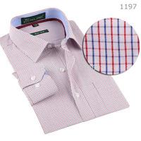 100% Cotton High Quality Plaid Men Shirts Long Sleeve Brand Casual Male Social Dress Shirt Business man casual shirts