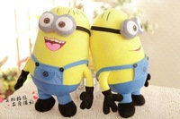 3pcs/set 25CM 3D Despicable ME Movie Plush Toys 9.8Inch Minion Jorge Stewart Dave For Baby Kids Christmas Gift Free Shipping
