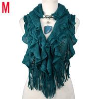 Jewelry pendant scarf for women bufanda manta winter warm scarf waved necklace scarf shawl , NL-1932-2