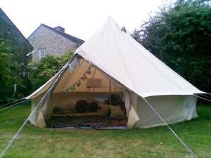 4m dia cotton canvas luxury style party tent()