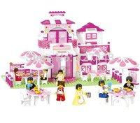 Sluban Girl's Dream Romantic Restaurant 306 Pieces Building Blocks Mini Figures Enlighten Educational Toys For Children Gift