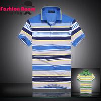 HOT summer mens polo shirts brand casual men polo tops shirt polo men Green/Sky Blue free shipping