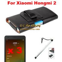 New Slim Belt Clip Case Mobile Phone Case + Screen Protector + Touch Pen For  Xiaomi Hongmi 2 Redmi 2