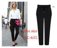 New 2015 Women 6xl plus size wide leg pants ladies big size XL-6XL trousers pantalones mujer P69