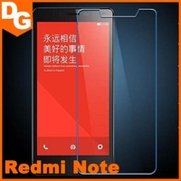Free Shipping 0.3 mm HD Clear Tempered Glass Screen Protector For Xiaomi Redmi Note Android Smartphone