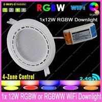 2.4G RF Wireless Mi.Light 12W RGBW / RGBWW LED Downlight Bulb with driver AC85-265V Color/Brightness Adjustable& WiFi Compatible