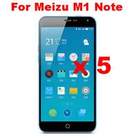 5pcs /lot High Clear LCD Screen Protector Screen Guard Screen Film For  MEIZU M1 Note