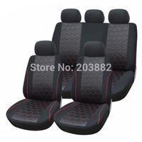 9PCS/set Full Car Seat Cover Interlock Fabric Material 3MM Composite Sponge Universal For Crossovers SUV Sedans Car Styling