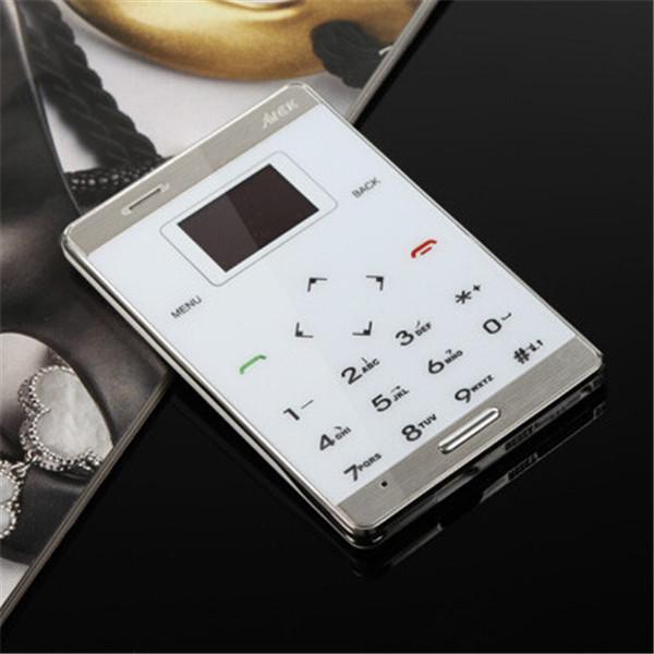 Original mini phone AIEK M9 card mobile phone pocket card phone MP3 Player MP4 FM Bluetooth PK aiek m5 m3 Mooc X5 mini m5 phone(China (Mainland))