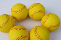 "Top Quality 9"" Baseball Ball PU Softballs Exercise Baseball Balls Yellow Practicing Baseballs Foam Stress Balls  12pcs/lot"