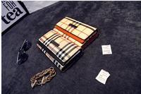 Genuine Leather Wallet Brand Design High Quality Women Purse Vintage Plaid Long Wallet Women Clutch bag Carteira Feminina