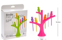 Top quality new Tableware Dinnerware Sets Fruit fork birds on the tree fruit trees + birds fork