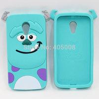 New Style Cartoon Ccute Monster university Sulley Soft Phone Cases For Motorola Moto G2 G 2nd Gen G2 XT1063 XT1068 XT1069 Covers