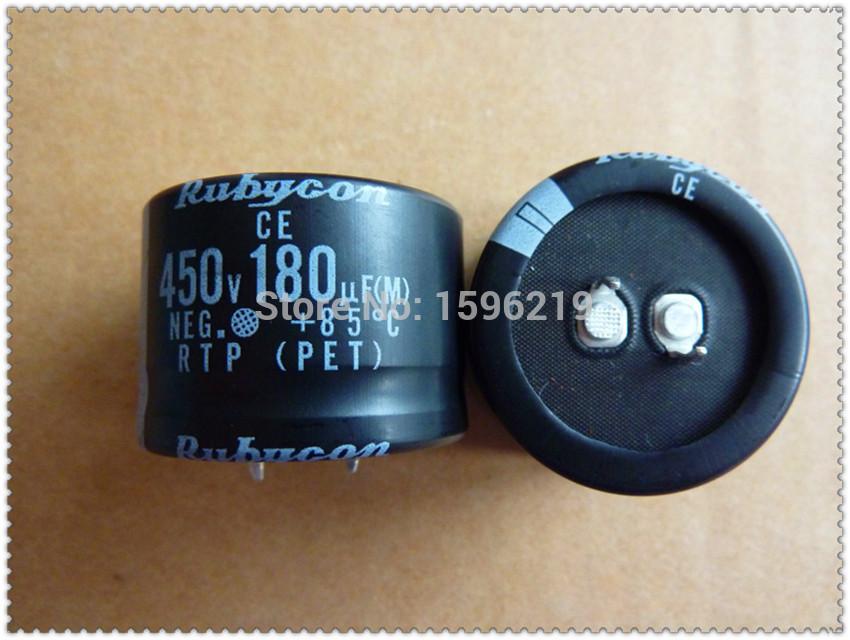 10pcs 180uF 450V RUBYCON RTP Series 35x25mm 450V 180uF Aluminum Electrolytic Capacitors - FREE SHIPPING(China (Mainland))