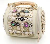 2015 big button fashion drum bag personality trend of the women's handbag bucket handbag bag bucket