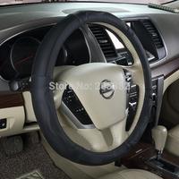 RUICH Sport Anti-slip Soft Genuine Leather Sport Auto Car Steering Wheel Cover 38CM