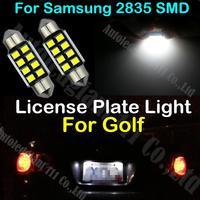 2x C5W White Canbus 36mm Light For Volkswagen Golf Celebration City GL GT GTI Jazz K2 R32 Sport TDI Trek License Plate Light