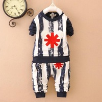 boys suits baby sets cotton stripe 2015 new spring kids clothes children sets