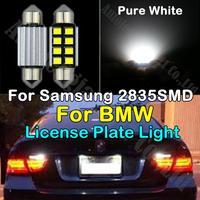 2x White C5W 36mm Error Free LED License Plate Light For BMW 525i 525xi 528e 528i 530i 535i 540i 545i 645Ci 650i 740i 745i