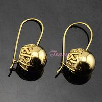 Womens Beauty 18K Yellow Gold Filled Round Bottle Drop Dangles Earrings Cheap