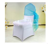 Organza Chair Hood \ Chair Sash-- Turquoise Color