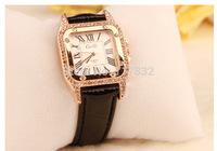 women korean watch lady Quartz calibre leather band Analog wristwatches women analog girl clock watches diamond-bordered design