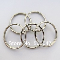 Fast DHL Free Shipping,2000Pcs Split Keyring 25mm Key Chains Loop Pocket Photo Clasps Connectors Silver