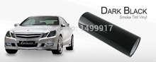 "Free Shipping 12""x36"" Dark Black Headlight Taillight Fog light Smoked Tint Styling Film Waterprool Sticker Car DIY(China (Mainland))"