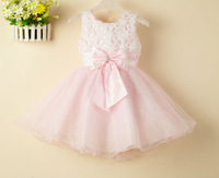 free shipping new princess dress children dress lace dress flower girl dress bow baby clothes