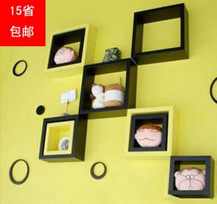 IKEA wall partition wall shelf backdrop creative decorative wooden lattice frame wall shelf closet shelves(China (Mainland))