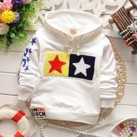boys hoodies baby 2015 spring kids pullover cotton stars children clothing