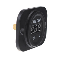 LED DC Digital Display Voltmeter Waterproof Meter for Motorbike Car Boat Travel Trailer ATV UTV Camper Caravans