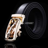2015 Men's Leopard mouth genuine leather belt buckle belt automatic alloy fashion casual belt 0012