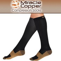 DHL 1000pair/Lot New Miracle Socks / Miracle Copper Socks Each with gift box express door to door
