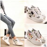 New Desgin Fashion Women Wedge Sneakers Shoes, Height Increasing Women Casual Shoes