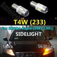 2x Ba9s Led Samsung 5630 SMD Light Yellow Red Blue White Side Parking light Sidelight Bulbs for SKODA Rapid [1985-1991]