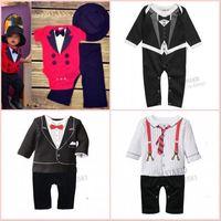 75cm-90cm baby 2015 new boys clothing tie climb suits bodysuit baby clothes