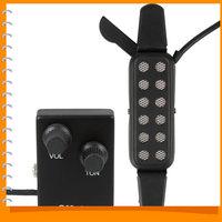 Black Adjustable Reverb Guitar Sound Pickup Acoustic Guitar Pickup Guitar Parts and Accessories