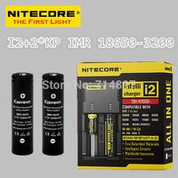 Free shipping original NITECORE I2 intelligent  battery charger + 2 pcs keeppower KP IMR 18650 3200mah rechargeable batteries