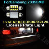 2x Pure White Canbus C5W Festoon 36mm Error Free 2835 SMD Car LED Bulb For BMW X3 X5 M3 M5 M6 X6 Z3 Z4 Z8 License Plate Light