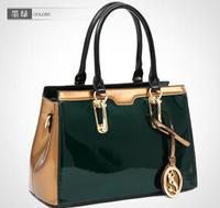 NO.1 New HOT Brand Genuine Leather Handbags Bolsas Women Leather Bags Tassel Women Messenger Bags Patent Leather Handbags Clutch
