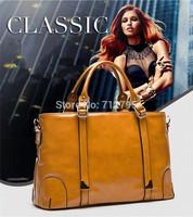 New fashion female bag European and American tyle oil wax lady handbag soft pu leather single shoulder bag