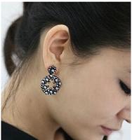 C25R4C Wholesale 12pairs/lot Valentine's Day gifts Drop earring Korea Cute Retro Style Popular Flower chandelier earrings